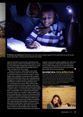 Článek o Nigérii v magazínu Koktejl